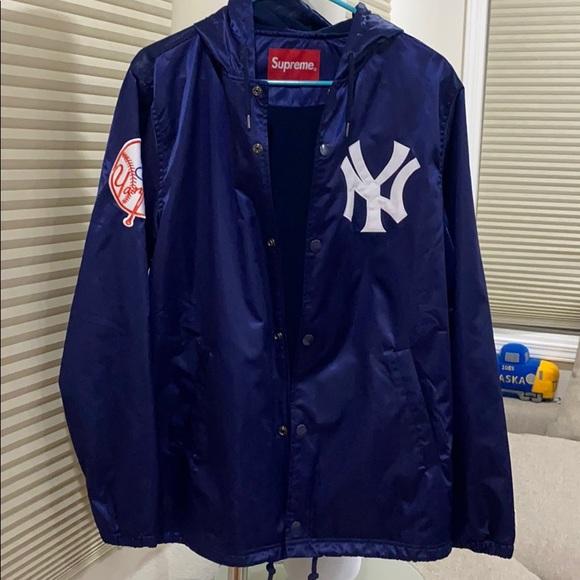 Supreme Other - Supreme Yankees Satin Hooded Jacket